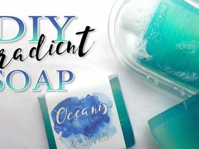 DIY GRADIENT SOAP - WEDDING FAVORS (shades of blue theme)