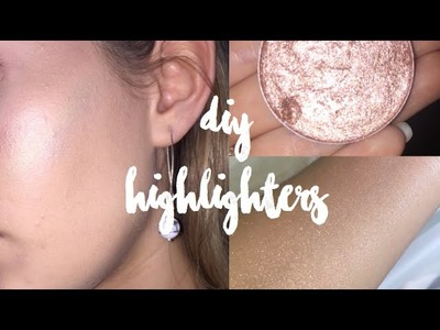 DIY Highlighters | Rainbow, Purple, Pink and Nude