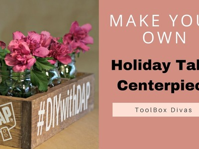 DIY Holiday Wooden Centerpiece Box