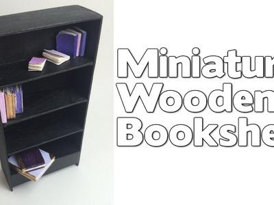 DIY Miniature Wooden Dollhouse Bookshelf