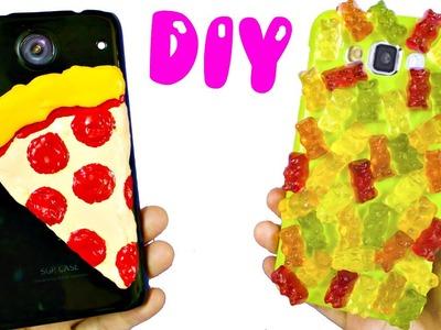 DIY PHONE CASES | PIZZA & GUMMY BEARS