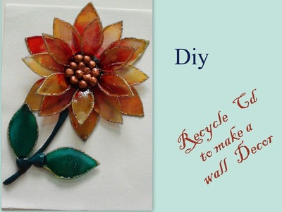 Diy Recycle Cd to make a wall decor