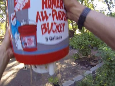 DIY Self Watering Bucket System in 5 minutes for $7