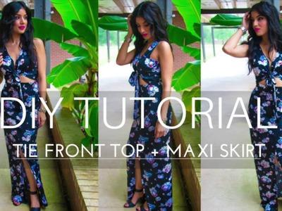 DIY Tutorial: Tie Front Top + Maxi Skirt - Rosy | Peña