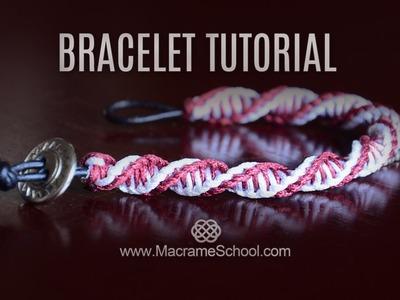DNA Spiral Bracelet Tutorial [DIY Double Helix] Macrame School