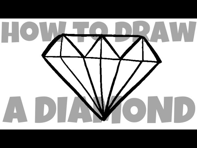 How to Draw a Diamond (two versions)