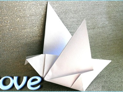How to make a Dove made of Paper in 2 Minutes? Origami Bird for Beginners