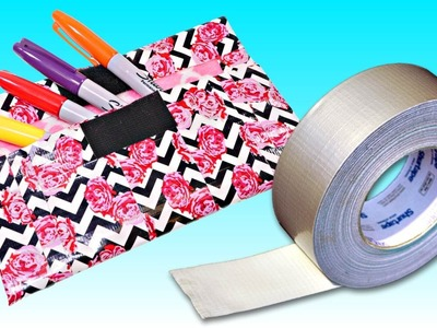 How To Make a Pencil Case with Duct Tape | DIY School Supply Crafts DCTC