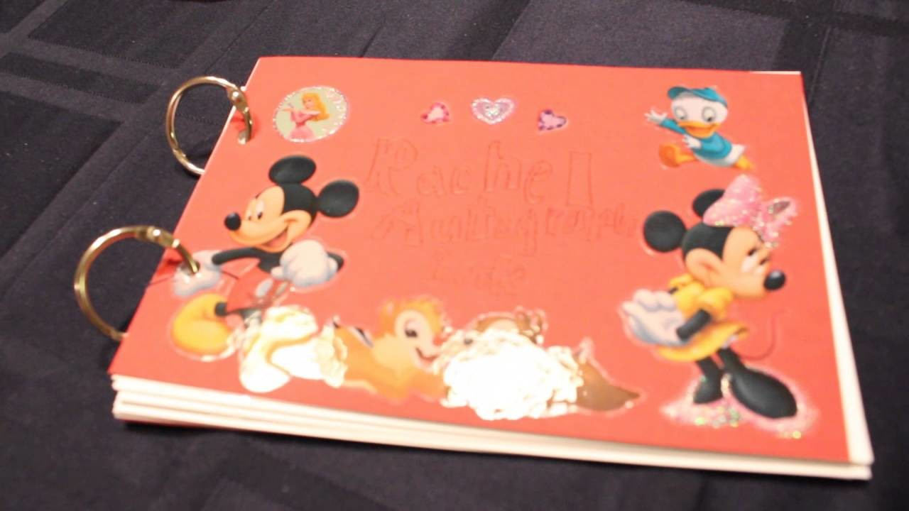 How To Make An Autograph Book For Disneyland