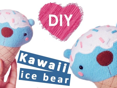 How to make plush ice bear. Easy and cute DIY