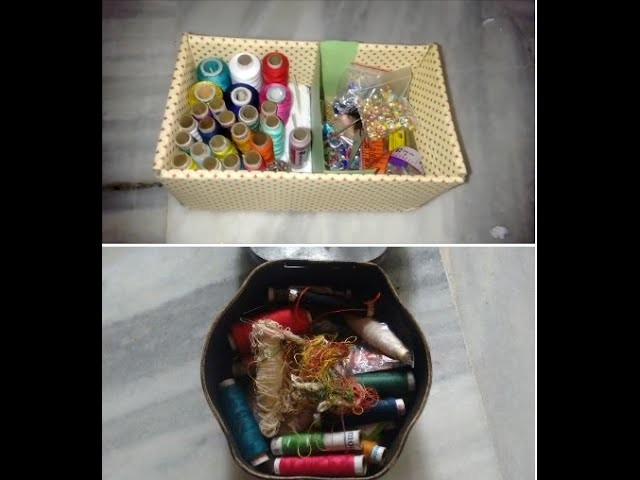 HOW TO REMODEL YOUR OLD MESSY SEWING BOX: DIY EASY AND FUN PROJECT