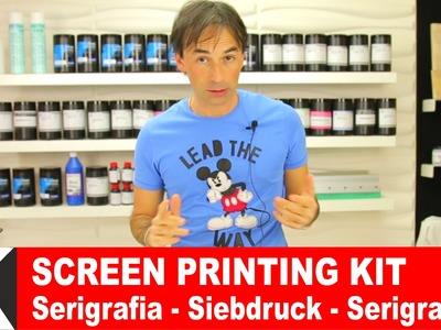 Kit Serigrafia facile | come stampare t-shirt | Screen Printing Tutorial DIY Serigrafia fai da te