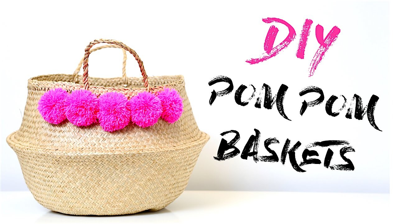 Make a Pom Pom Basket! | DIY Tribal Pom Pom Basket