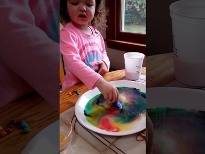 Milk + Soap DIY amazing science food coloring experiment for kids FUN step by step magic