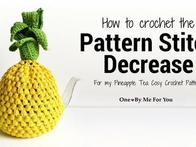 Pattern Stitch Decrease For My Pineapple Tea Cosy Crochet Pattern