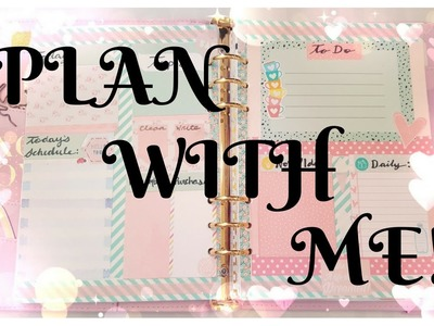 Plan With Me!  | DIY Planner Decoration