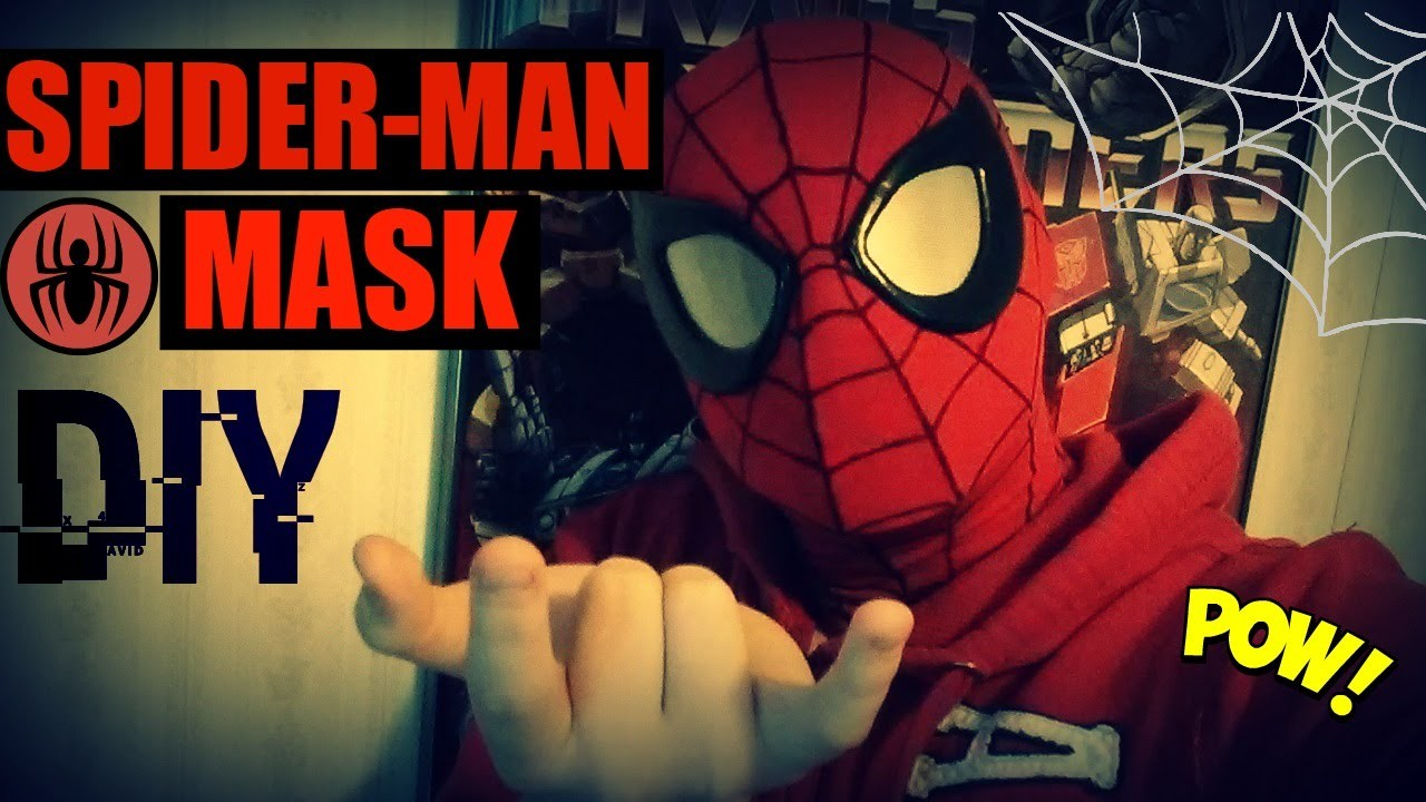 Spider man mask DIY.Tutorial