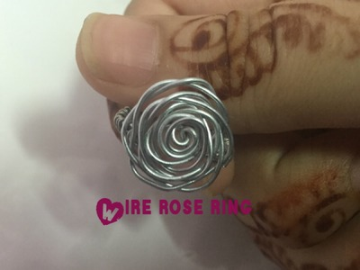 Wire rose ring | how to make | crafts and more