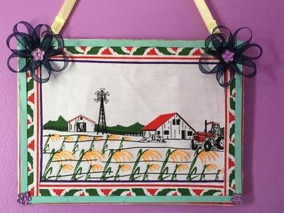 Basmati rice bag wall craft | How to Make