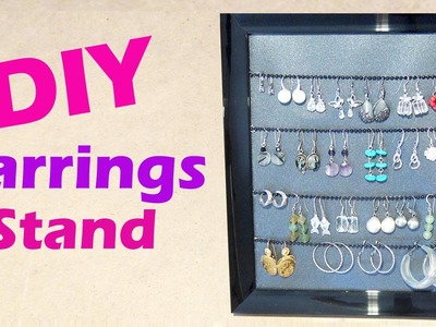 DIY Earrings Display Stand - D.I.Y Présentoir pour boucles d'oreilles