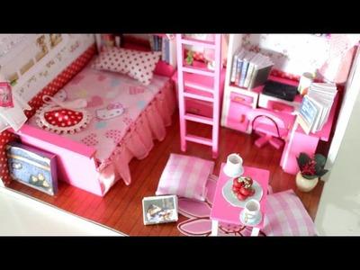 DIY Girly Miniature Dollhouse  || Tia Tia