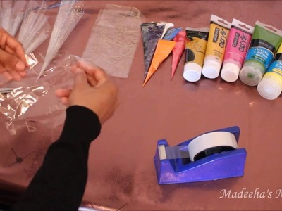 DIY: How to make henna and paint cones for decorating, IG: madeehas_mehndi
