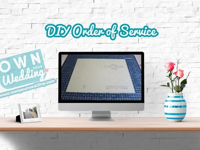 DIY Order of Service Booklet for Jenny & George's Wedding