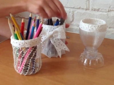 DIY Recycled plastic bottles  Cups №1  Creative ideas, crafts