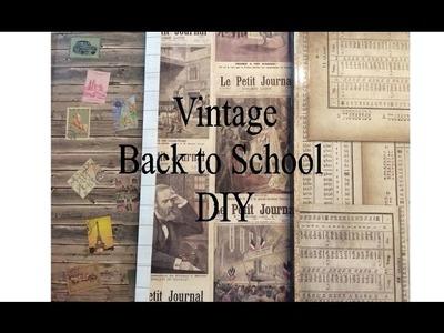 DIY Vintage Back to School Supplies 2016