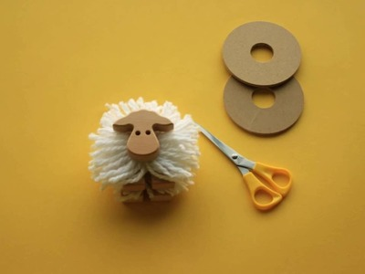 How To Create POM POM sheep - By Kipod Toys