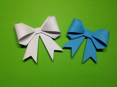 How to make a paper ribbon   Easy origami ribbons for beginners making   DIY-Paper Crafts