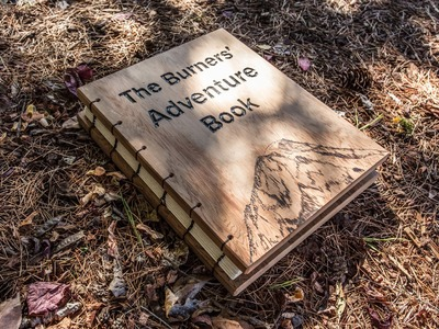 How to Make a Scrapbook: An UP inspired wood Adventure book!