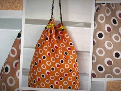 How to make a simple drawstring fabric bag