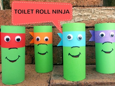 How to Make a Toilet Roll Ninja - Toilet Paper Roll Crafts