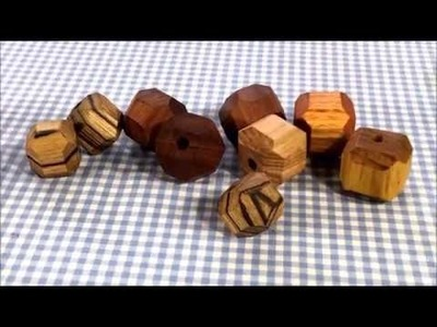 How to Make Geometric Wooden Beads