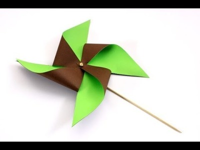 How to make paper WINDMILL paper PINWHEEL flower that Spins - Paper toy Back to SCHOOL