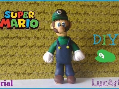 Luigi Polymer Clay Tutorial.  Luigi de Super Mario con porcelana fría.plastilina