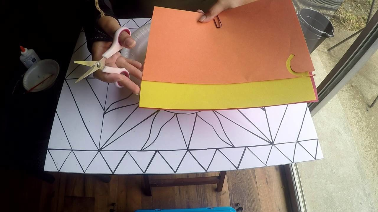 Paper Mosiac Painting - Construction Paper - DIY - Wall Art - Step by Step Tutorial - Gift Idea