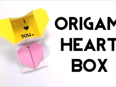 Pop-up Origami Heart Box with Hidden Message - DIY Valentines Craft - Easy Craft Tutorial