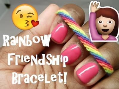 Rainbow Friendship Bracelet ASMR Craft [clinking][tapping][metal][ambient city noise0