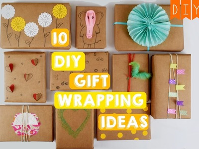 10 Gift Wrapping Ideas | Quick & Easy Ideas Using Brown Paper | DIY DAY CRAFTS