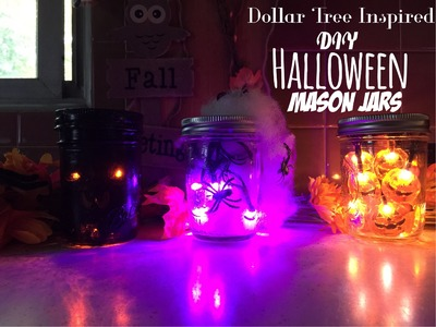 3 DIY Halloween Mason Jars | Dollar Tree Inspired