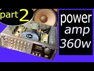 Build a circuit audio power amplifier 300w  400w, DIY