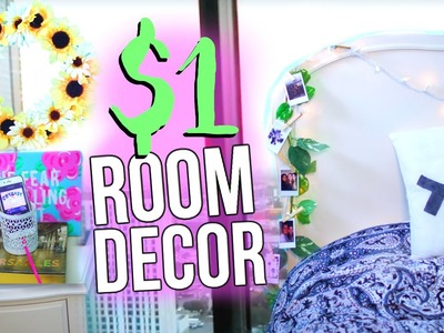 DIY $1 Room Decor! Pinterest Inspired!