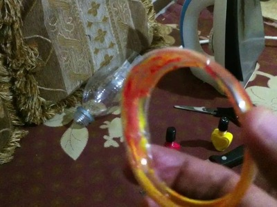 DIY Art At Home: How to make bracelet, bangles out of empty plastic bottle