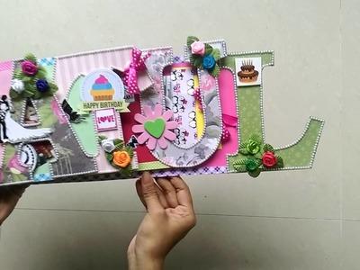 DIY  birthday gift for him (name album)