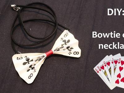 DIY: Bowtie card necklace!