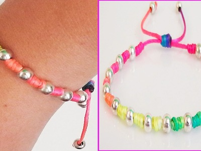 Diy Bracelets with beads with string friendship bracelets tutorial  How to make a bracelet easy