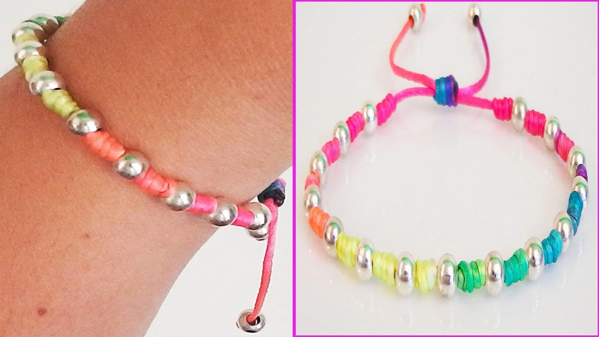 diy bracelets with beads with string friendship bracelets