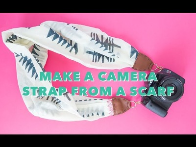 DIY camera strap made from a scarf